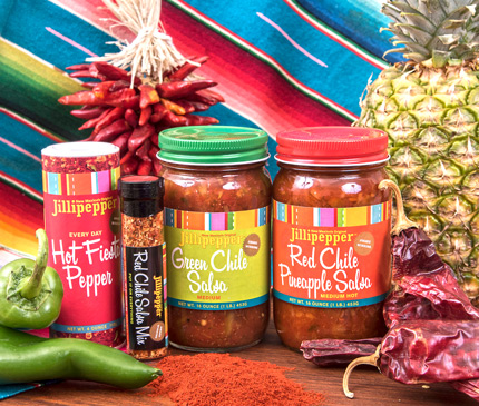 Green and Red Chile salsa and southwest seasonings